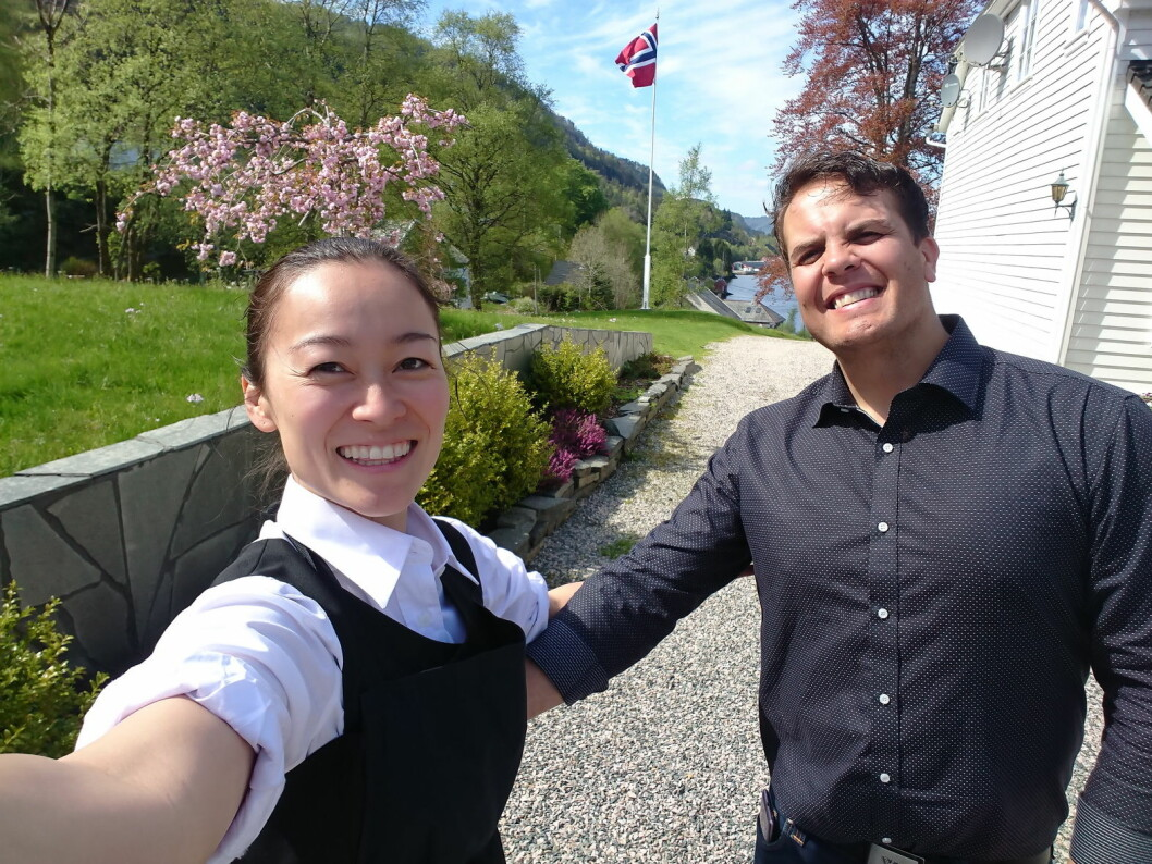 Alita Dagmar Kristensen og David Sandem er nytt vertskap på ærverdige Dalen Hotel. (Foto: Morten Holt)