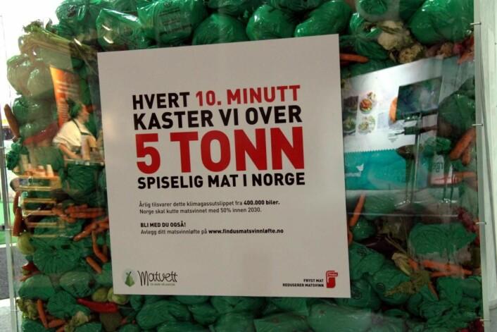 Matsvinn på dagsorden på Foodscape. (Foto: Morten Holt)