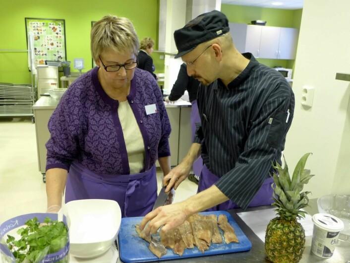 Julematverksted med kokk Kristen Odde. (Foto: Montebellosenteret)
