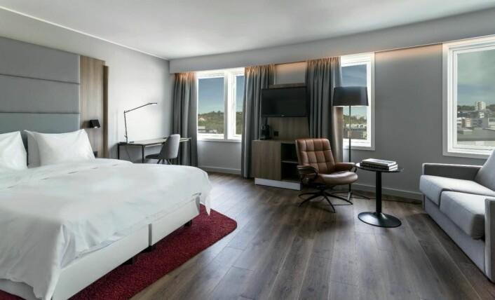 Nyrenovert rom på Radisson Blu Hotel Nydalen. (Foto: Radisson Group Hotel)