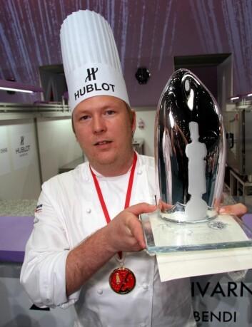 Gunnar Hvarnes tok bronse i Bocuse d'Or i 2011. Her etter at han tok sølv i Bocuse d'Or Europe året før. (Foto: Morten Holt)