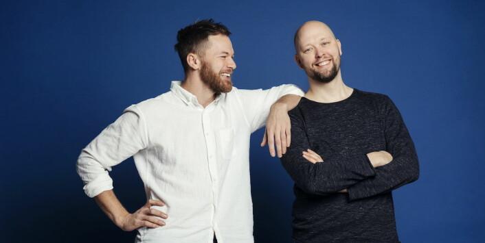 Gründerne bak Gro Grønt, Magnus Humle (til venstre) og Martin Skar. (Foto: Gro Grønt)