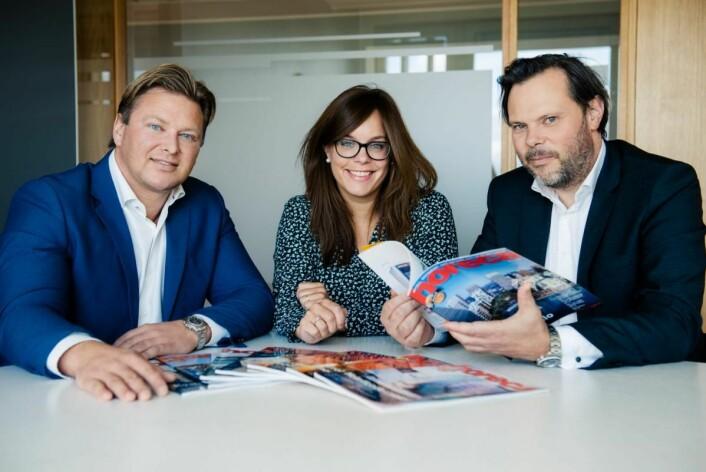 Ole André Oftebro, Liss Sunde og Nils Kristian Lie hos Advokatfirmaet Ræder. (Foto Nicolas Tourrenc)