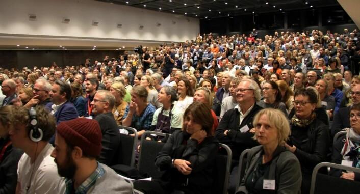 Peer Gynt-salen i Grieghallen var fullsatt under superfinalen i oste-VM. (Foto: Morten Holt)