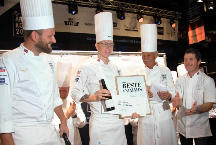 Henrik Falkensten ble kåret til beste commis under Årets kokk 2017. (Foto: Morten Holt)