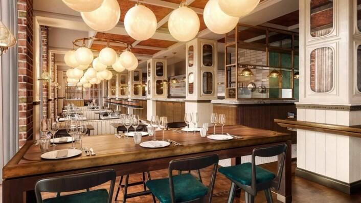 Brasseriet på Villa Copenhagen.(Illustrasjon: Nordic Hotels & Resorts)