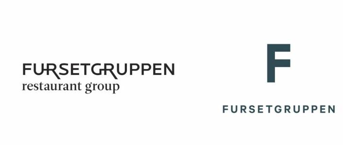 Den gamle (til venstre) og nye logoen til Fursetgruppen.