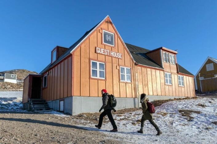Ittoqqortoormiit Guesthouse på Grønland. (Foto: Hotels.com)