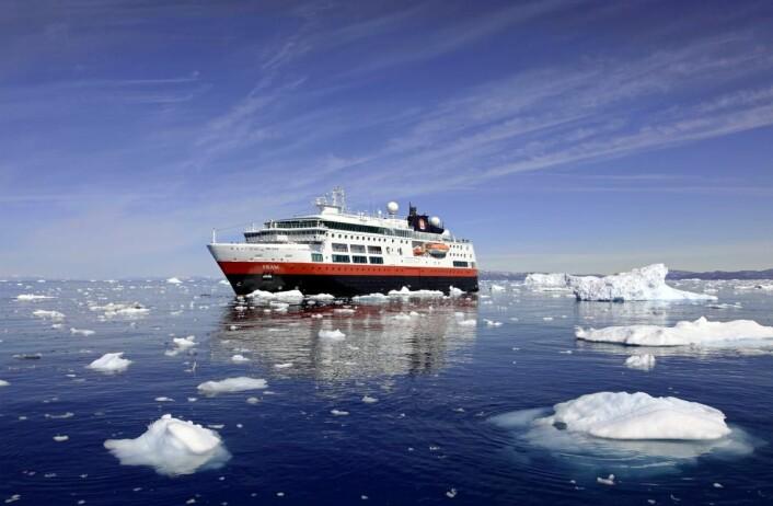 MS Fram.(Foto: Sandra Walser/ Hurtigruten)