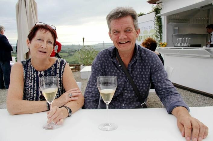 Gunvor S. Lie og Joar Monstad driver fortsatt med litt vinproduksjon. (Foto: Morten Holt)