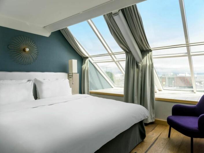 Fra et av rommene på Radisson Blu Royal Garden Hotel. (Foto; Radisson Hotel Group)