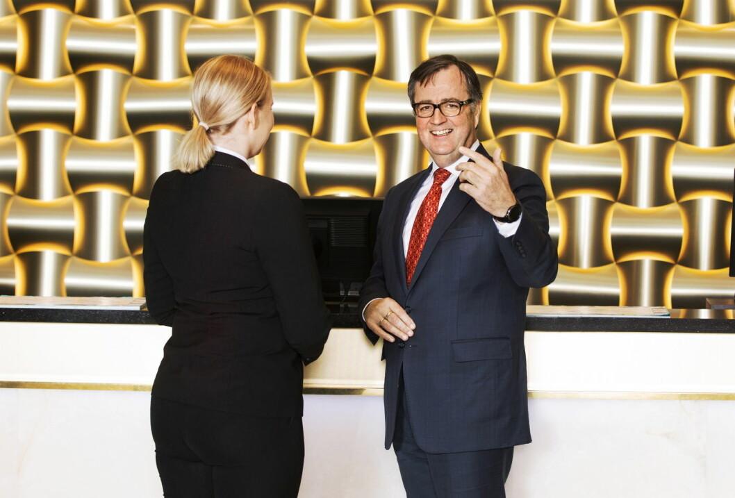 – Vi gleder oss over denne lanseringen og veien videre sammen med Vipps og Alipay, sier konserndirektør for Thon Hotels, Morten Thorvaldsen. (Foto: Gry Traaen)