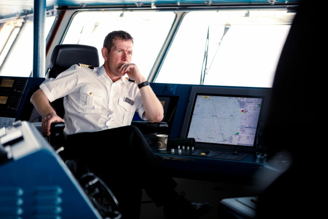 Kai Albrigtsen (54) blir kaptein på verdens første hybriddrevne cruiseskip. (Foto: Maximilian Schwarz/Hurtigruten)
