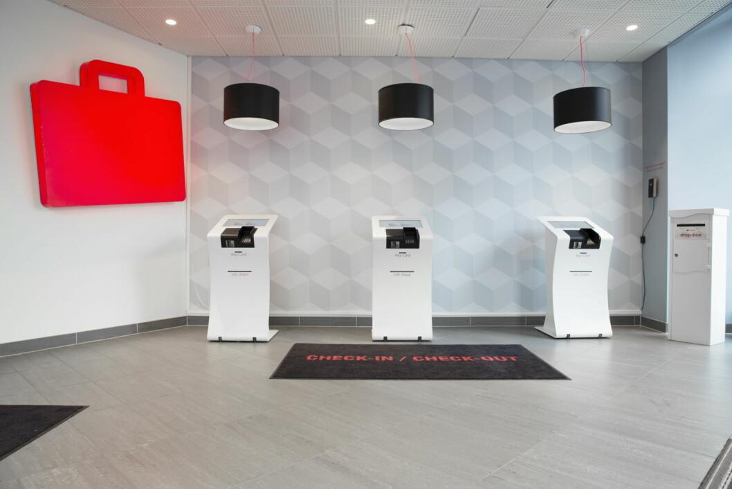 Citybox hadde høyest belegg i Oslo i 2018. Her fra innsjekk på hotellet i hovedstaden. (Foto: Citybox)