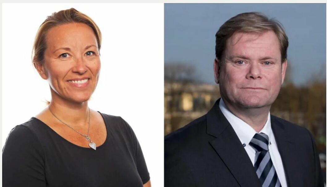 Inn i Hurtigruten-ledelsen: Stine Steffensen Børke og Bent Martini. (Foto: Hurtigruten)