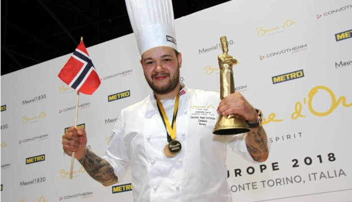 Christian A. Pettersen lever ut drømmen sin i Bocuse d'Or. Etter seier i Europa-utgaven i Torino, er han storfavoritt i den globale finalen denne uka. (Foto: Morten Holt)