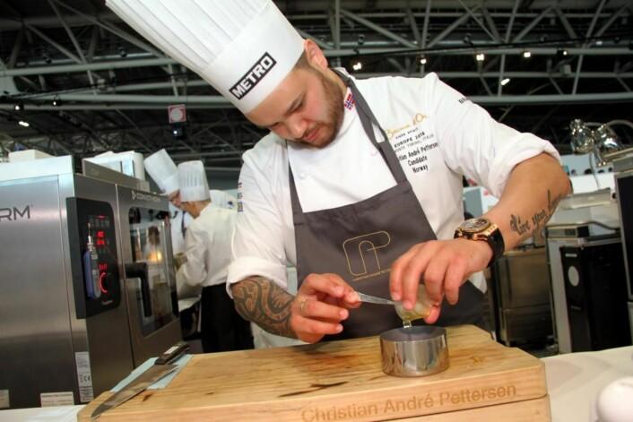 Maksimal smak og minimalt svinn står i sentrum for Christian André Pettersen og Norge i Bocuse d'Or-finalen. (Foto: Morten Holt)
