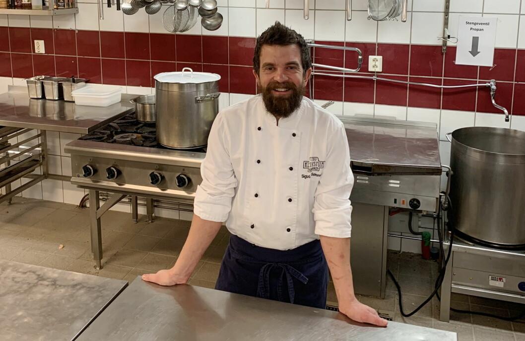 Sigurd Buen Sørensen startet som kjøkkensjef på Kleivstua 1. januar 2019. (Foto: Kleivstua)