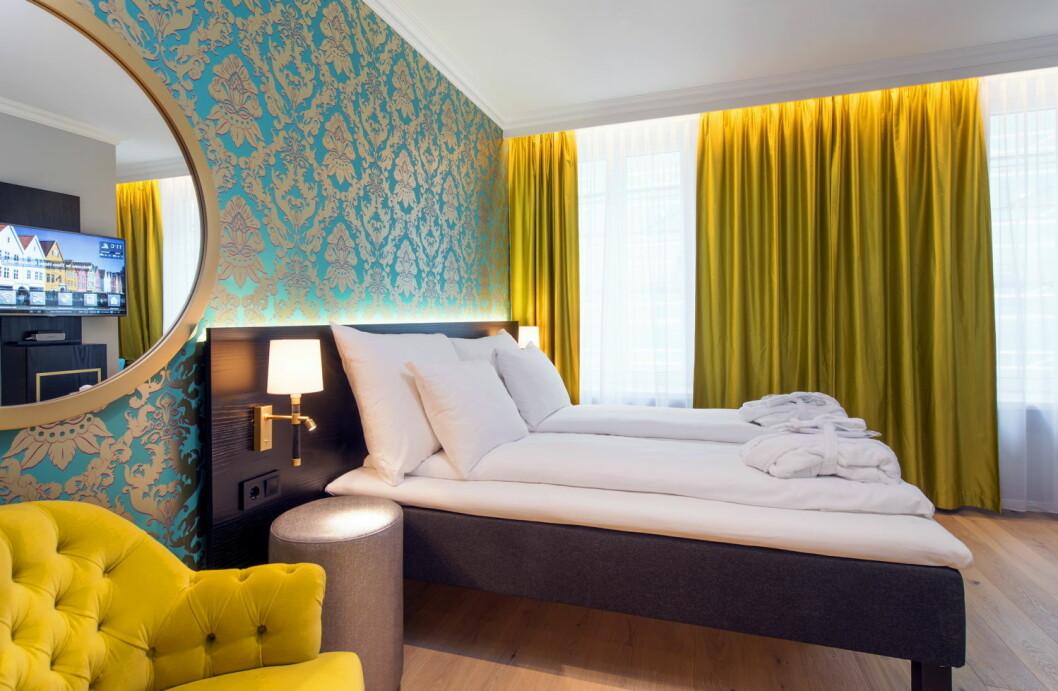 Thon Hotel Rosenkrantz Bergen er et nyoppusset konferansehotell med 129 rom. (Foto: Thon Hotels)