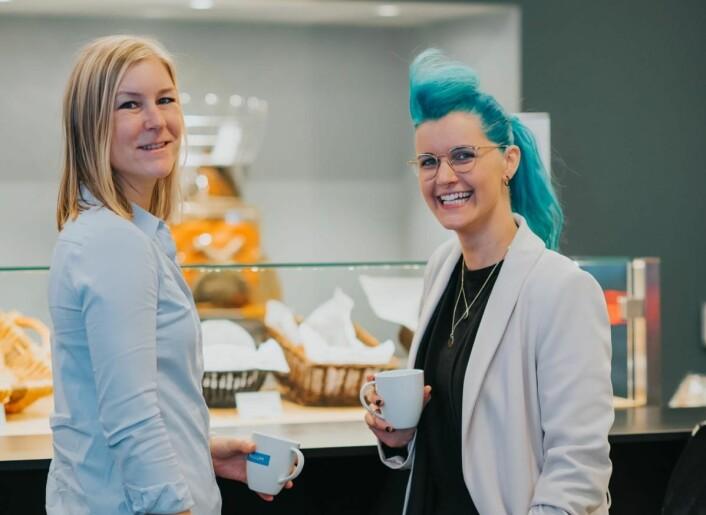 Susanne Hegg (til venstre) fra Millum og Charlotte Aschim fra TotalCtrl. (Foto: Farrukh Wahab Manzoor)