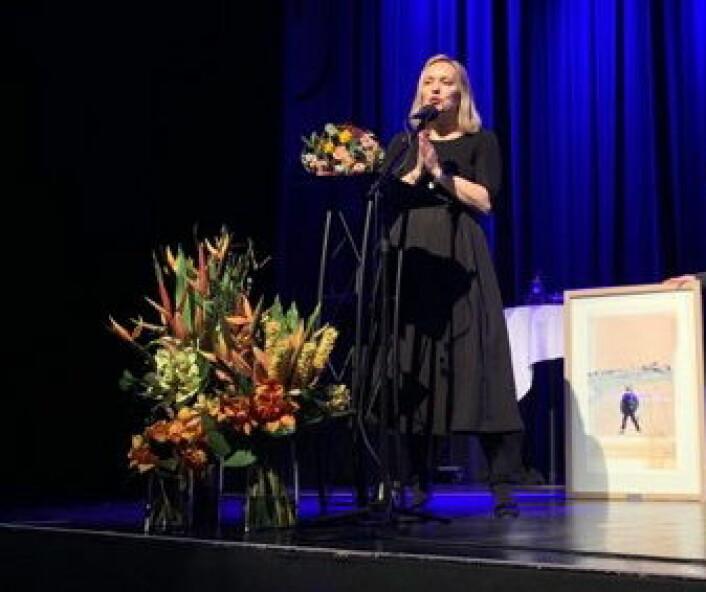 Hederspris til Torill Renaa. (Foto Renaa)