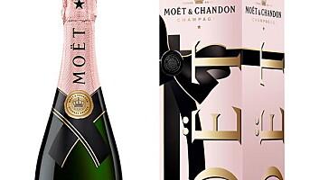 Rosa champagne til valentinsdagen