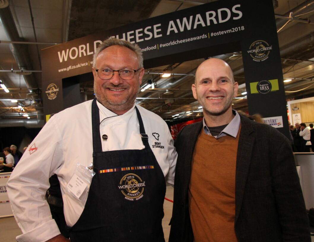 Bo Jensen satser nå internasjonalt. Her sammen  med Bent Stiansen under oste-VM i Bergen i fjor høst. (Foto: Morten Holt)