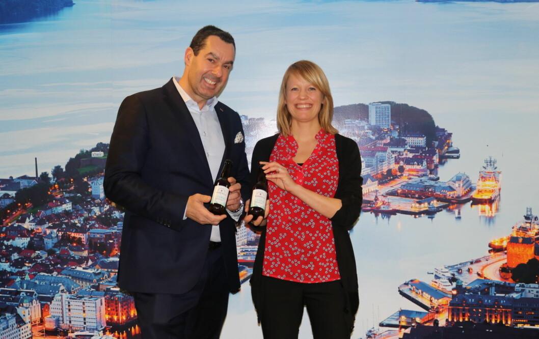 Morten Malting hos Scandic Hotels sammen med Klokk & Co-gründer Kristine Lund.