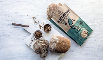 Lanserer brød med larver