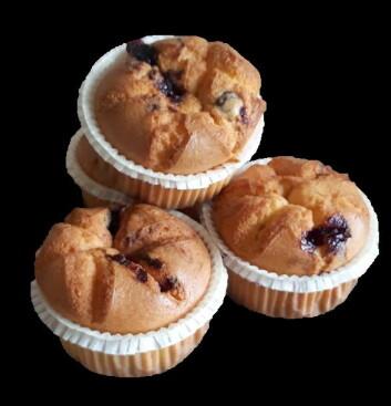 Glutenfrie blåbærmuffins fra Elda Bakeri. (Foto: Elda Bakeri)