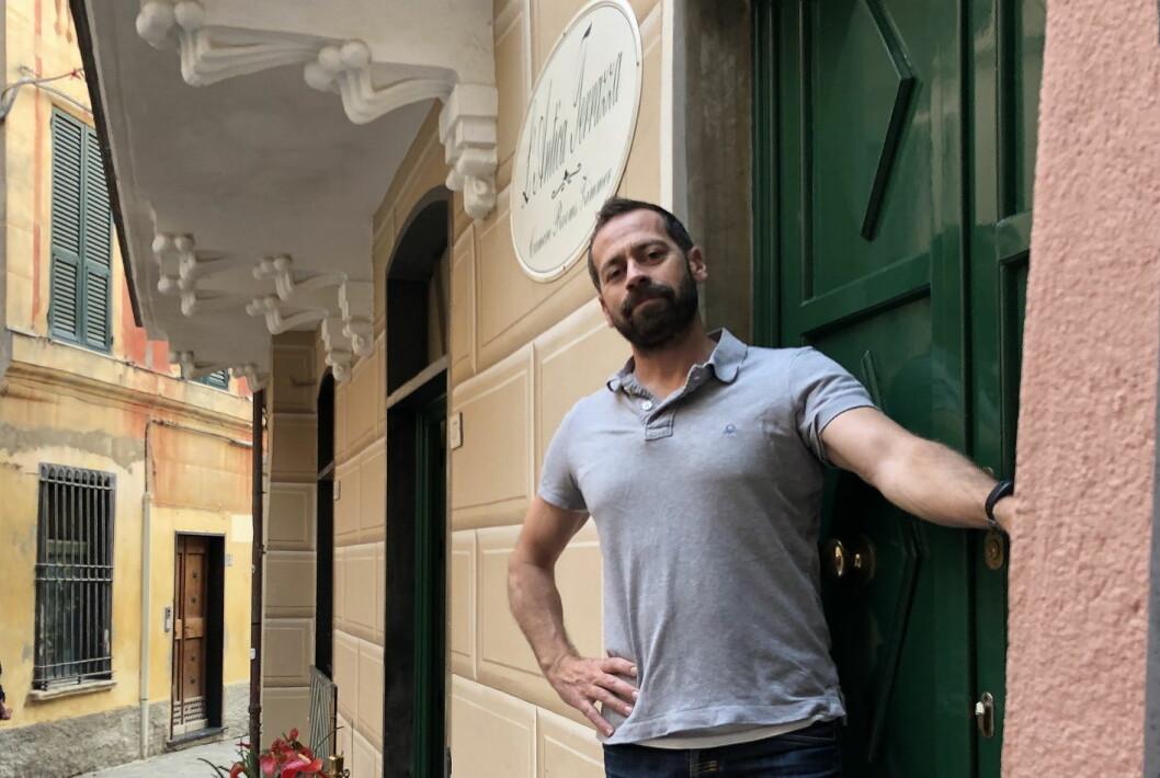 Jon Yndestad er hotelldriver i Cinque Terre i Italia.