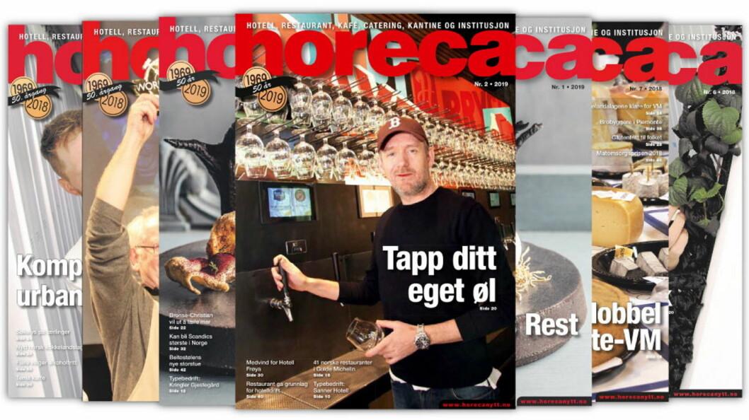 Omslaget på Horecas andre utgave i 2019. (Foto: Morten Holt/layout: Tove Sissel Larsgård)
