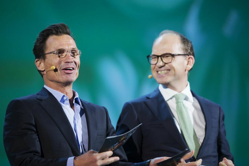 Petter A. Stordalen og Torgeir Silseth i Nordic Choice Hotels. (Foto: Nordic Choice Hotels)