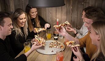 Ungdommen livnærer seg på pizza