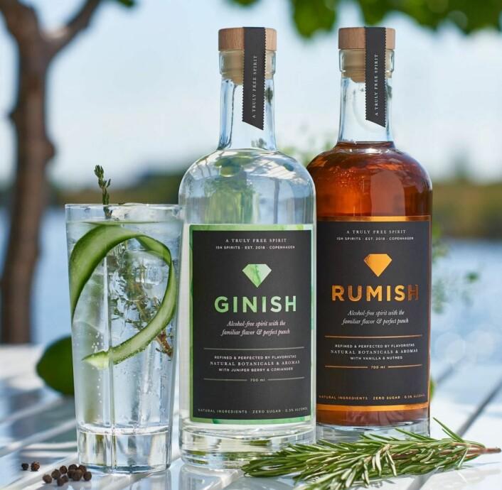 Produktserien består foreløpig av Ginish og Rumish (Foto: Ish Spirits)