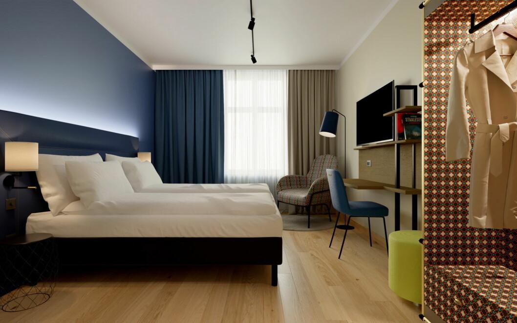 Fra et av rommene på Scandic Torget Bergen. (Foto: Scandic Hotels)