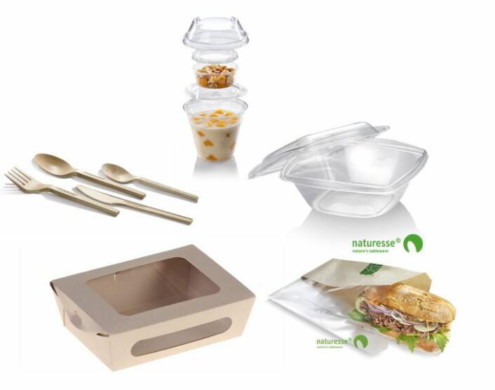 Bildet viser produktene fra Greenway-Norge som nå tas inn hos Scandic Hotels.