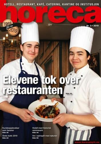 Forsiden på Horecas tredje utgave i 2019. (Foto: Morten Holt/layout: Tove Sissel Larsgård)