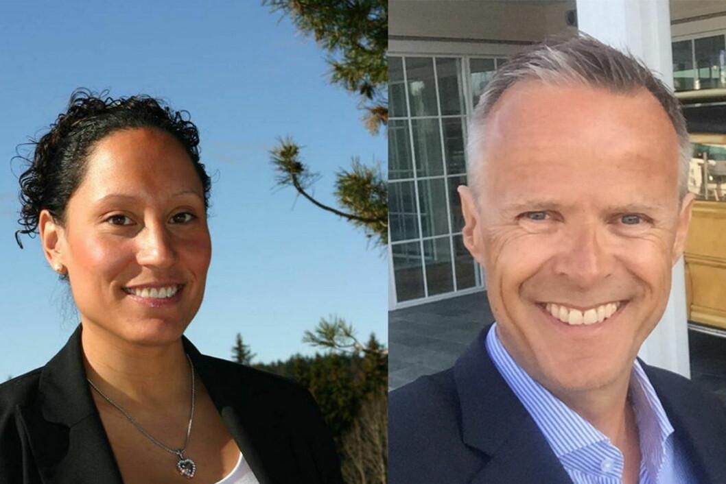 Monica Fladvad Carivau er ansatt som hotelldirektør ved Scandic Solli, mens Claus Petersen skal styre Scandic Fornebu. (Foto: Scandic Hotels)