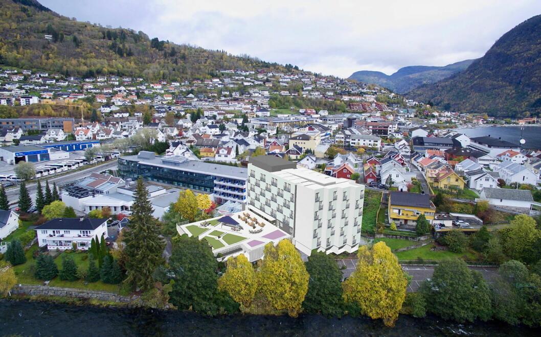 Quality Hotel Sogndal har nesten doblet romkapasiteten. (Foto: Quality Hotel Sogndal)