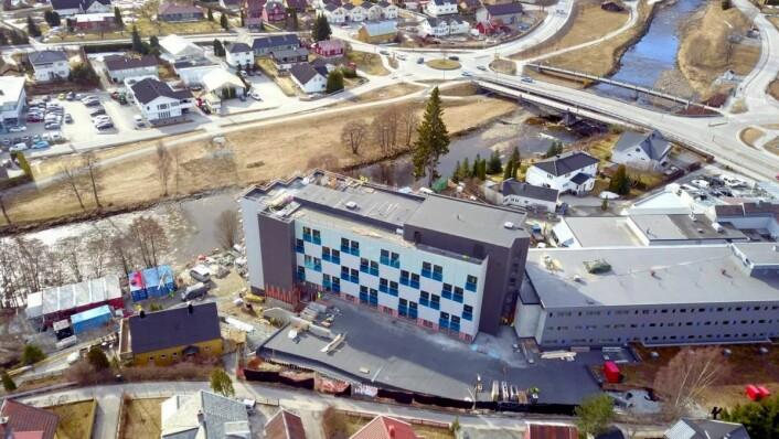 Fra utbyggingen av hotellet. (Foto: Quality Hotel Sogndal)