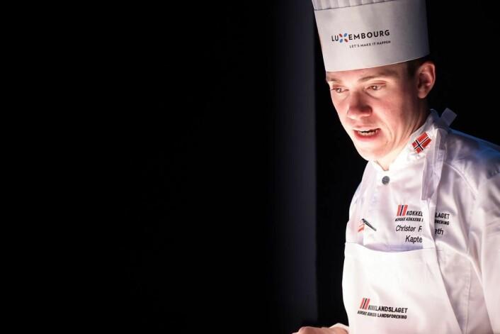 Christer Rødseth fra Vaaghals er kokkelandslagets kaptein. (Foto: Eirik Nilssen, Matbyrået Impuls)
