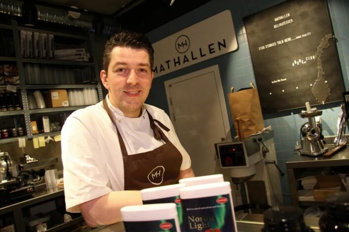 Gunnar Jensen eier og driver Mathallen i Tromsø. (Foto: Morten Holt)