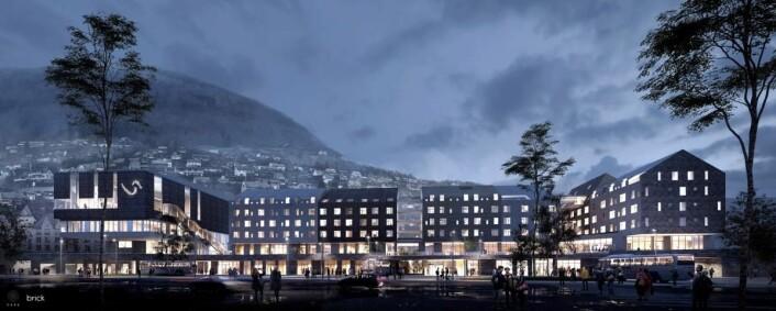 Scandic Voss får 216 rom. (Illustrasjon: Scandic Hotels/Dark)