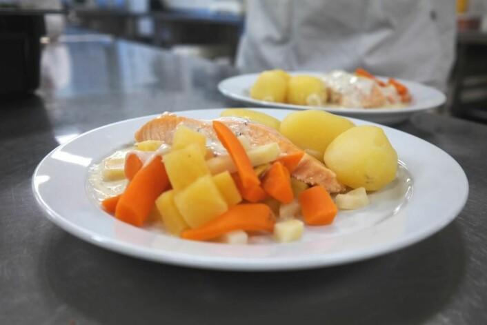 Pasienter i Sykehuset Innlandet får varm middag når de ønsker det. (Foto: Sykehuset Innlandet)