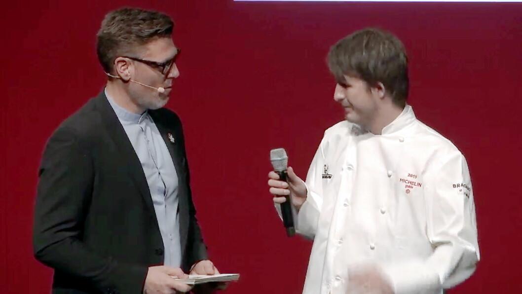 Jonas Nåvik er kåret til «Årets unge ledertalent i trondheimsregionen». Her fra Michelin-utdelingen i februar i år.