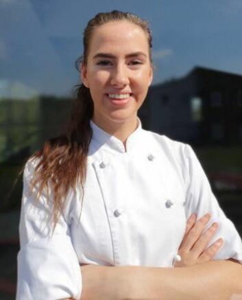 Celine Ekholt fra Kontrast er en av finalistene i«Årets unge kokk» 2019. (Foto: Stiftelsen Årets Kokk)