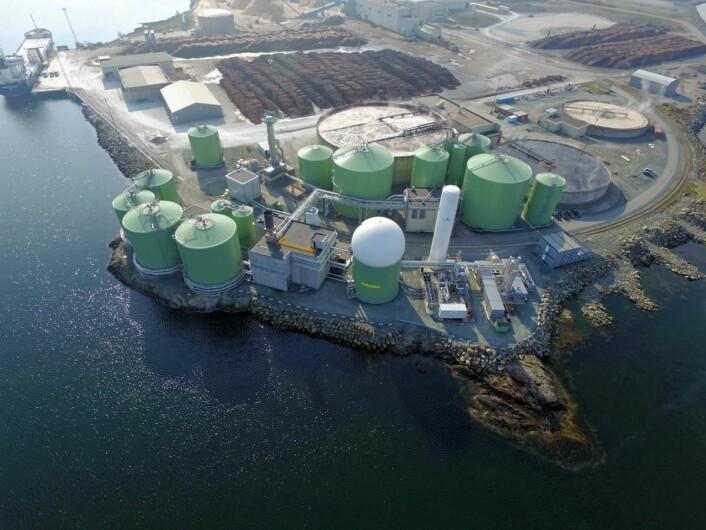 Biokrafts anlegg på Skogn i Trøndelag. (Foto: Biokraft)