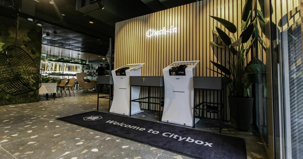 Citybox åpnet nylig enda et hotell i Bergen, på Danmarksplass. (Foto: Citybox)