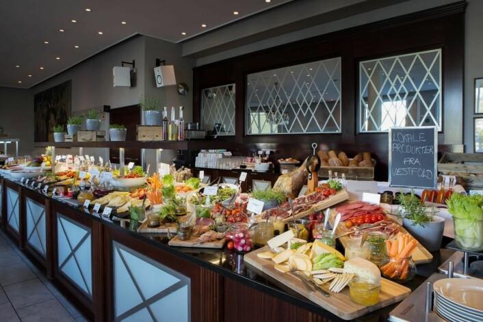 Scandic Park Sandefjords frokost er kåret til Vestfolds beste for 11. gang. (Foto: Scandic Hotels)